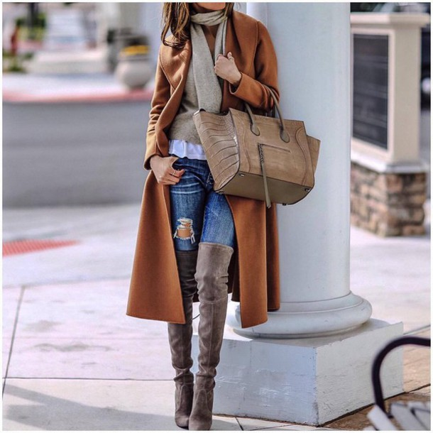 Preferenza Coat: tumblr, camel, camel coat, long coat, bag, beige bag  VQ09