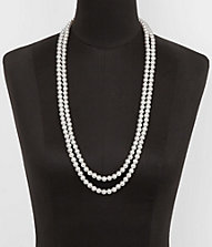 LONG FAUX PEARL NECKLACE | Express