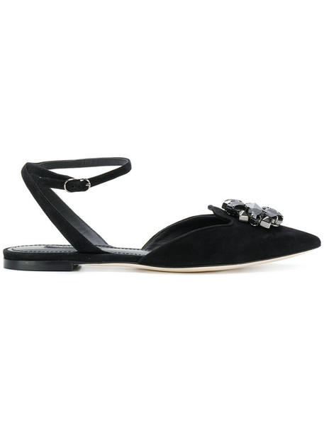 Dolce & Gabbana women shoes leather suede black