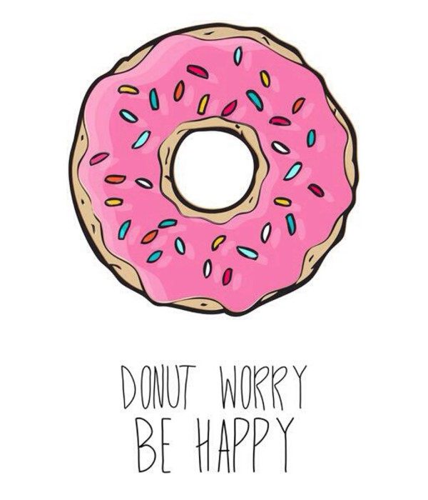 t-shirt donut worry
