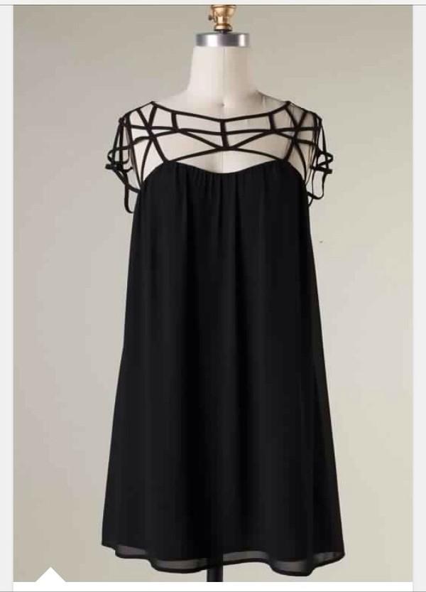dress party dress black dress cut-out dress