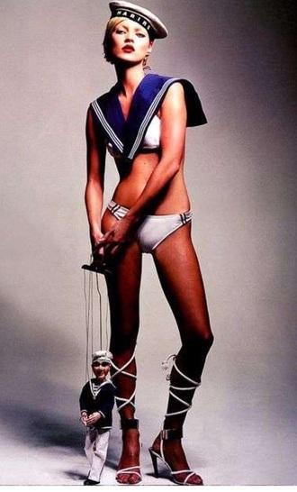 underwear model 60s style funny sailor