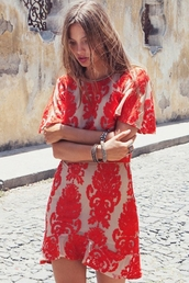dress,lace,summer,nail polish,jumpsuit,red,red dress,girl,girly,zaful,vogue,chanel,boho,summer dress,party,party dress,indie,pattern,print,design,floral,flowers