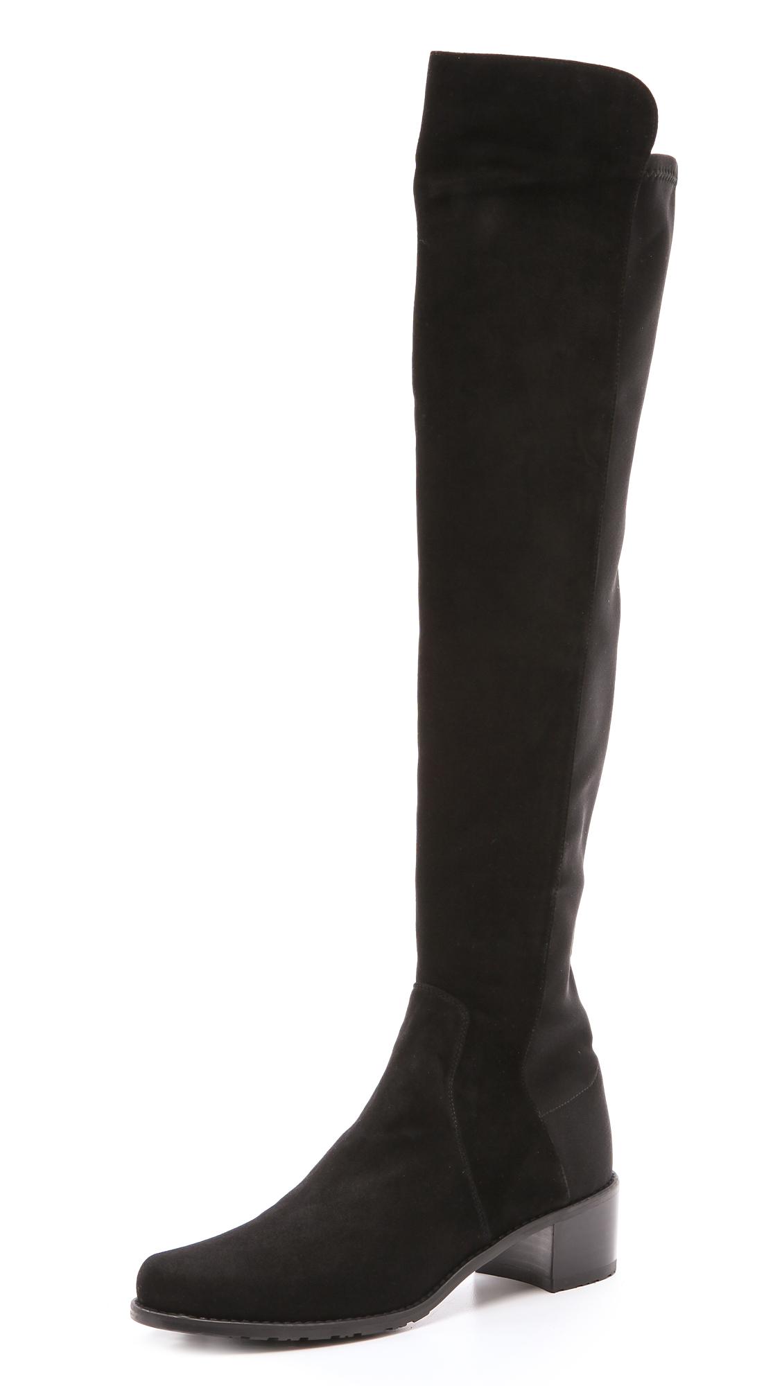 stuart weitzman reserve stretch suede boots shopbop