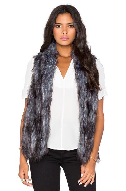BCBGeneration vest fur vest faux fur vest fur faux fur