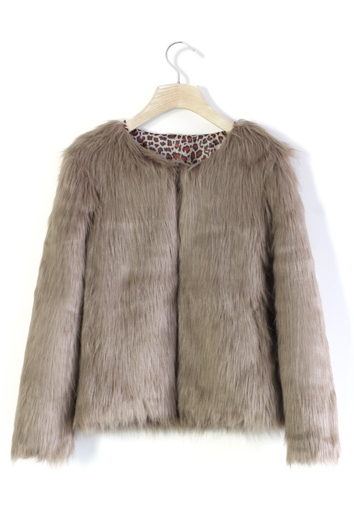 My Chic Faux Fur Coat in Brown - Retro, Indie and Unique Fashion