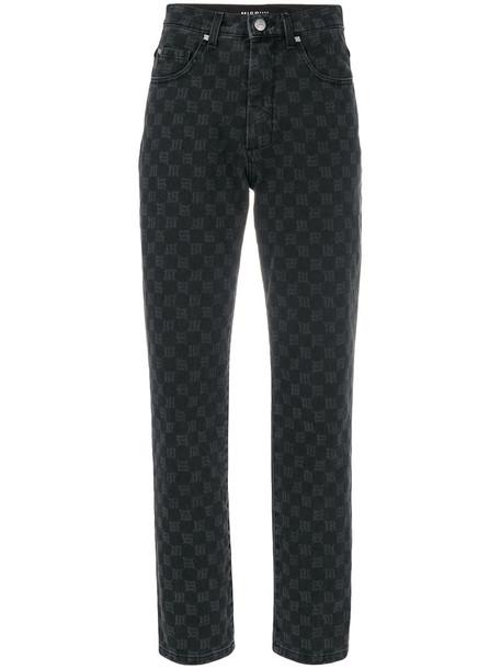 Misbhv jeans high women cotton grey