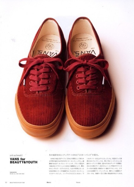 vans red shoes sneakers corduroy
