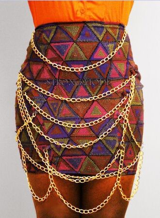 skirt multi chain