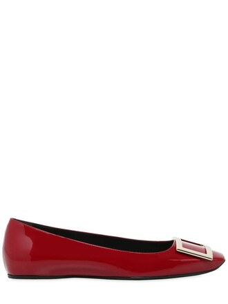 flats leather flats leather dark dark red red shoes