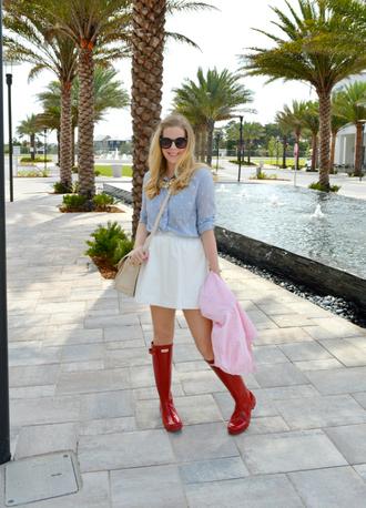 fash boulevard blogger shoes top coat skirt jewels bag