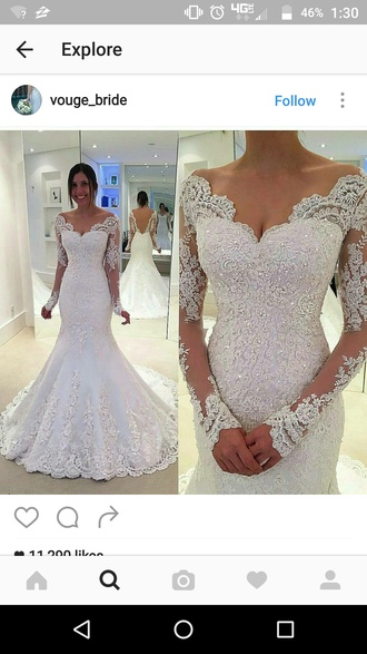 dress wedding dress wedding beautiful white white dress lace dress lace sparkling beads wow bridal gown bride dress bride bridal
