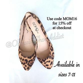 shoes print leopard print flats animal print flats flats leopard print animal print