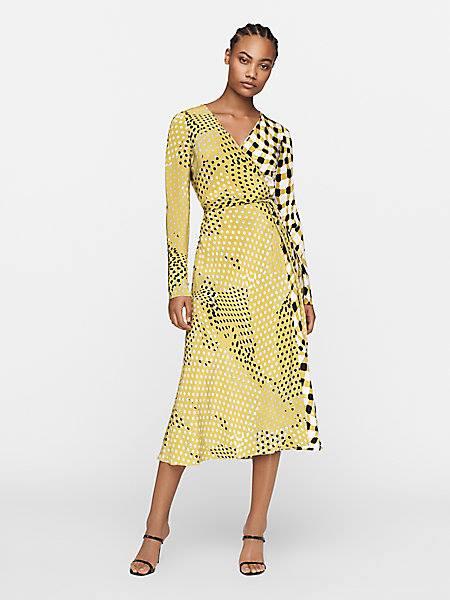 Tilly Silk Crepe De Chine Midi Wrap Dress