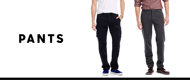 Mens Pants: Mens Fashion Clothing - AX - Armani Exchange