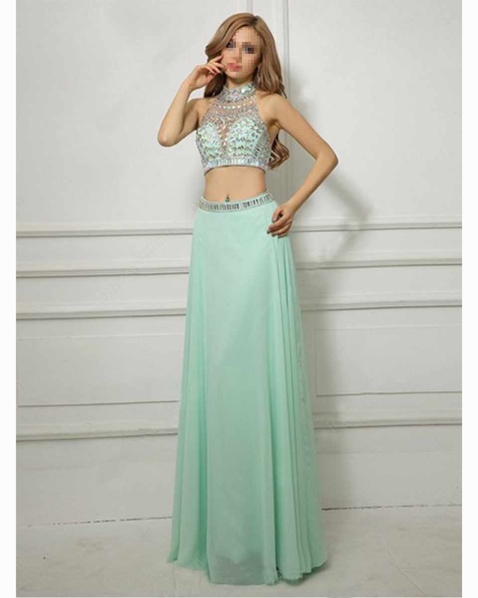 Gray Chiffon Prom Gowns
