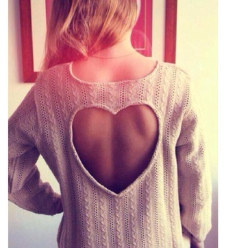heart sweater pink heart