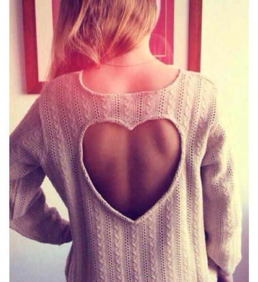 sweater heart pink heart