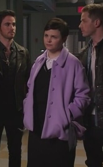 coat purple ginnifer goodwin once upon a time show mary margaret blanchard