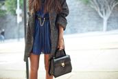 dress,coat,blue dress,belt,wool,boyfriend coat,oversized