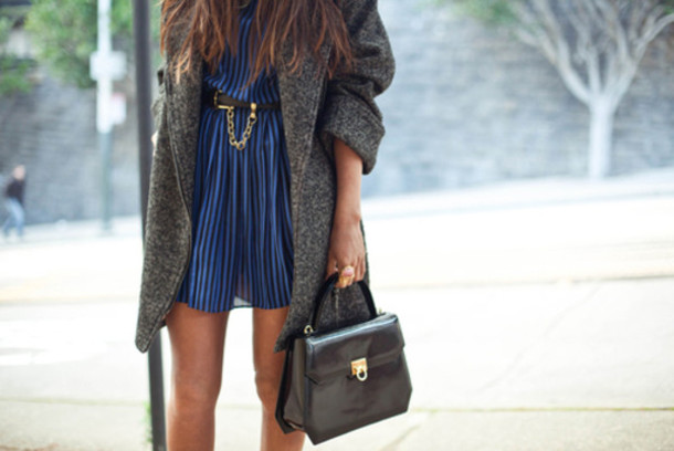 dress coat blue dress belt wool boyfriend coat oversized
