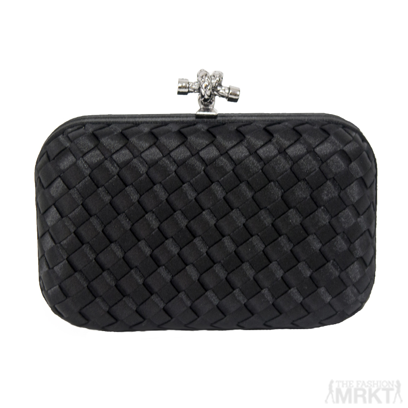 Bottega Veneta Inspired Satin Knot Clutch / TheFashionMRKT