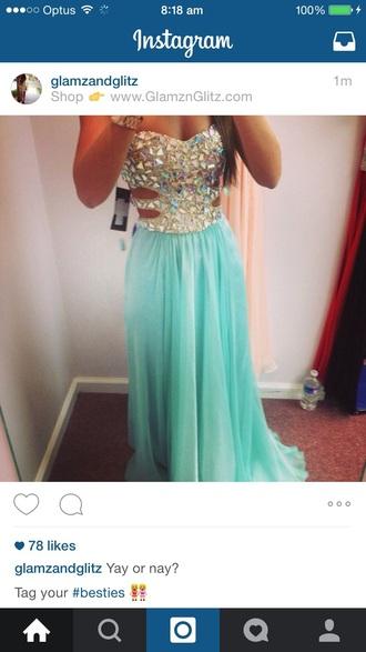 dress aqua dress formal dress