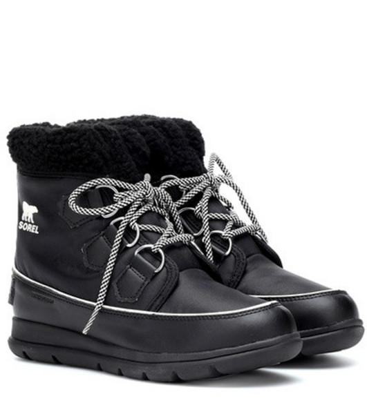 Sorel Explorer Carnival nylon boots in black