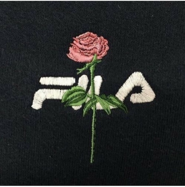 sweater roses fila sweater rose