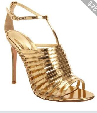 shoes strappy heels metallic shoes heels