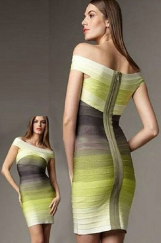 dress ombre yellow party cocktail evening dress wots-hot-right-now ombre dress bandage dress sexy dress party dress multicolor