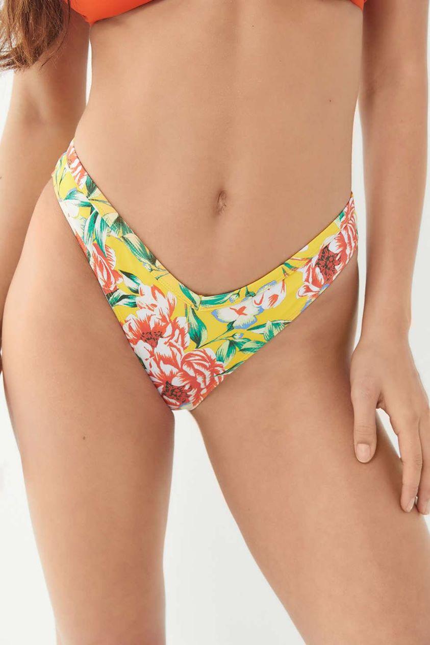 Out From Under V-Shape Printed Bikini Bottom