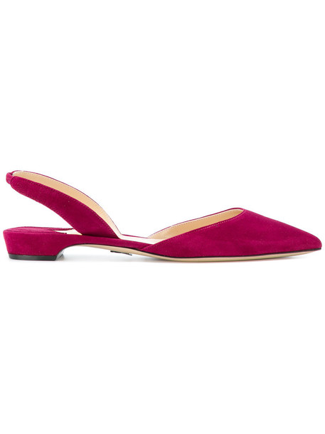 Paul Andrew women leather suede purple pink shoes