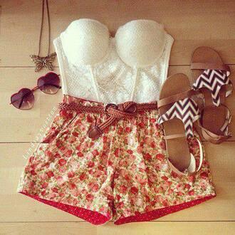 shirt summer shoes belt shorts fvkin