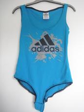 underwear,bodysuit,blue swimwear,sports bra,adidas,body
