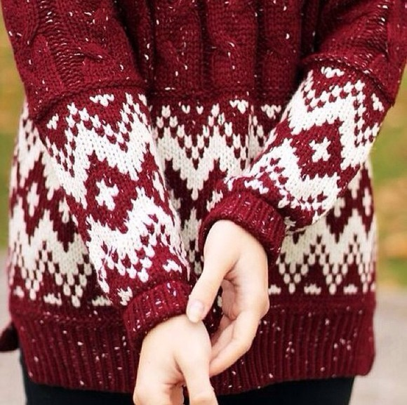knit burgundy sweater sweater burgundy red winter sweater winter knit sweater knitwear holiday christmas sweater christmas
