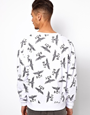Boy london sweat with repeat logo at asos