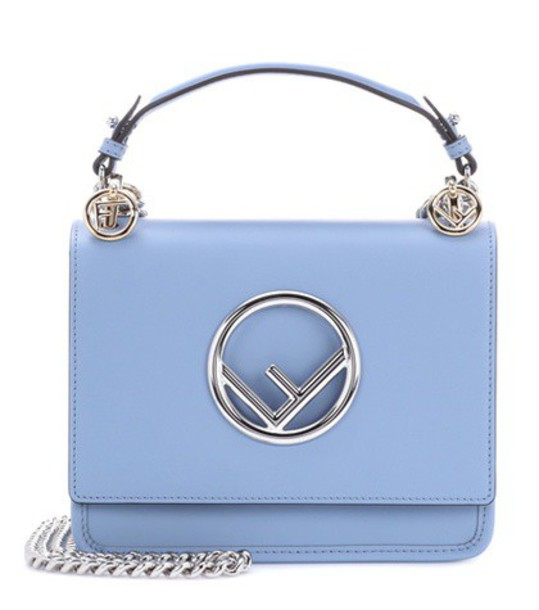Fendi mini bag shoulder bag leather blue
