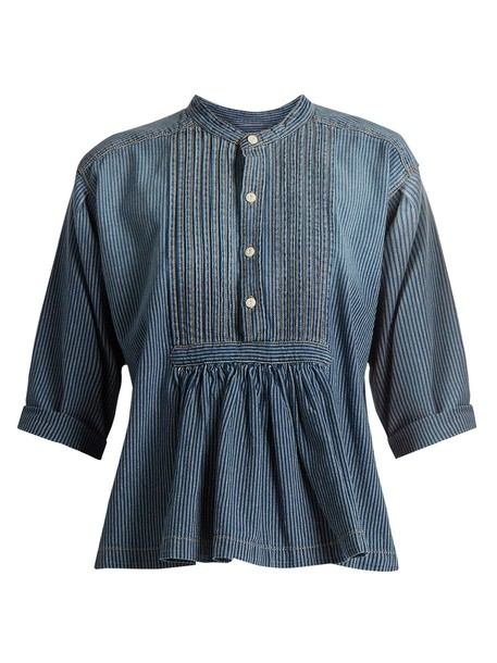 Current/Elliott shirt cotton blue top