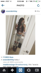 jeans,acacia brinley,ripped jeans