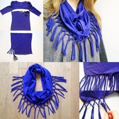 scarf,t-shirt,blue