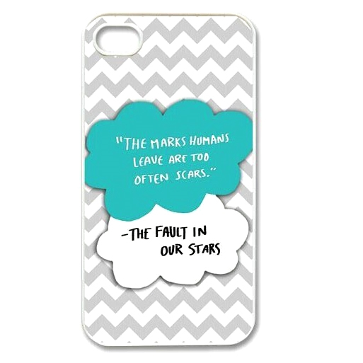 Clouds in the sky hard cover phone case with quote and chevron stripes for any iphone ipod