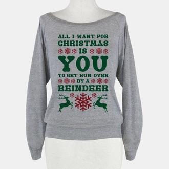 shirt funny christmas long sleeves christmas sweater christmas shirt green sweater red sweater grey sweater funny shirt