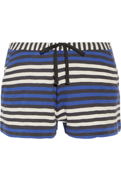 Skin shorts pajama shorts cotton blue