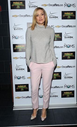 sweater pumps pants kate hudson turtleneck