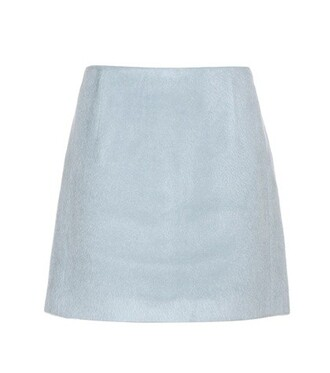skirt mini skirt mini wool blue