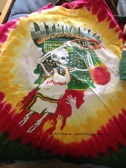 rasta shirt trippy lithuania skeleton basketball tye dye