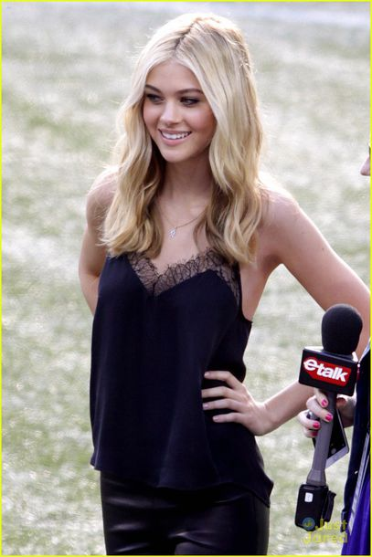 tank top black top nicola peltz actress summer top lace top blonde hair
