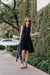 themiddlepage,blogger,dress,jacket,shoes,bag,sandals,black dress