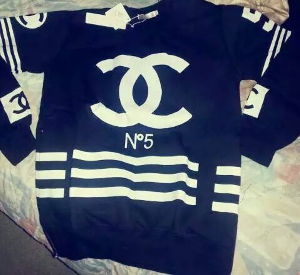 chanel sweater chanel top chanel sweater black